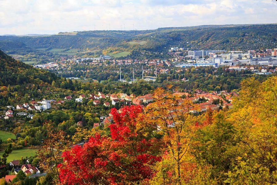 Herbstlicher Blick auf Jena