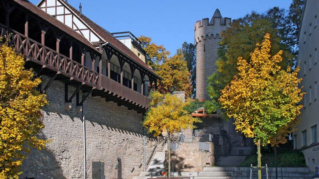Herbststimmung an der Stadtmauer von Jena